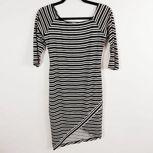 Le Kate Asymetrical 3/4 Sleeve Dress